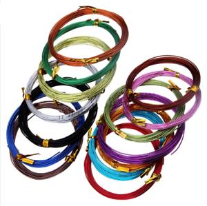 Wholesale joblots Qualité Aluminium Bijoux Craft Wire 1.5mmx5m par rouleau