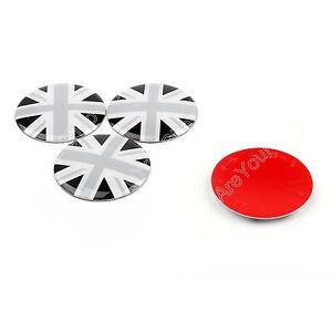 Wheel-Center-Hub-Cap-Emblem-Badge-decal-BK-Union-Jack-UK-Flag-For-Mini-Cooper-A9