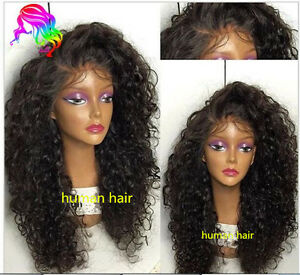 brazilian soft curly full front lace wig human hair baby