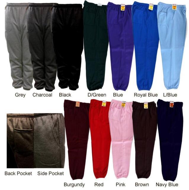 8db7dc3d NEW MEN'S WOMEN'S PLAIN FLEECE JOGGER Elastic waistband DRAWSTRING SWEAT  PANTS