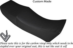 carbon fibre vinyl custom fits moto guzzi le mans 1000 v dual seat cover ebay. Black Bedroom Furniture Sets. Home Design Ideas
