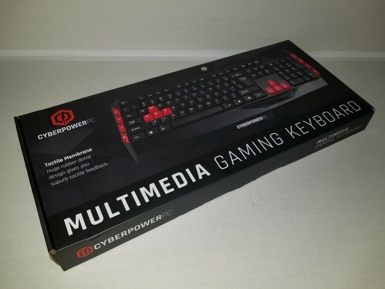 CyberPowerPC Multimedia Wired USB Gaming Keyboard Black. Buy it now for 26.00