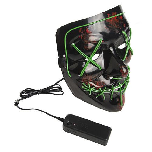 Lumière DEL Masque up drôle masque la purge année électorale idéal pour Cosplay Halloween