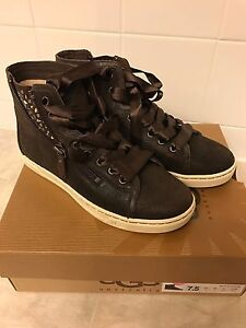 369fdaca8d0 Details about UGG Australia BLANEY CRYSTALS Chocolate Lace Up Sneakers