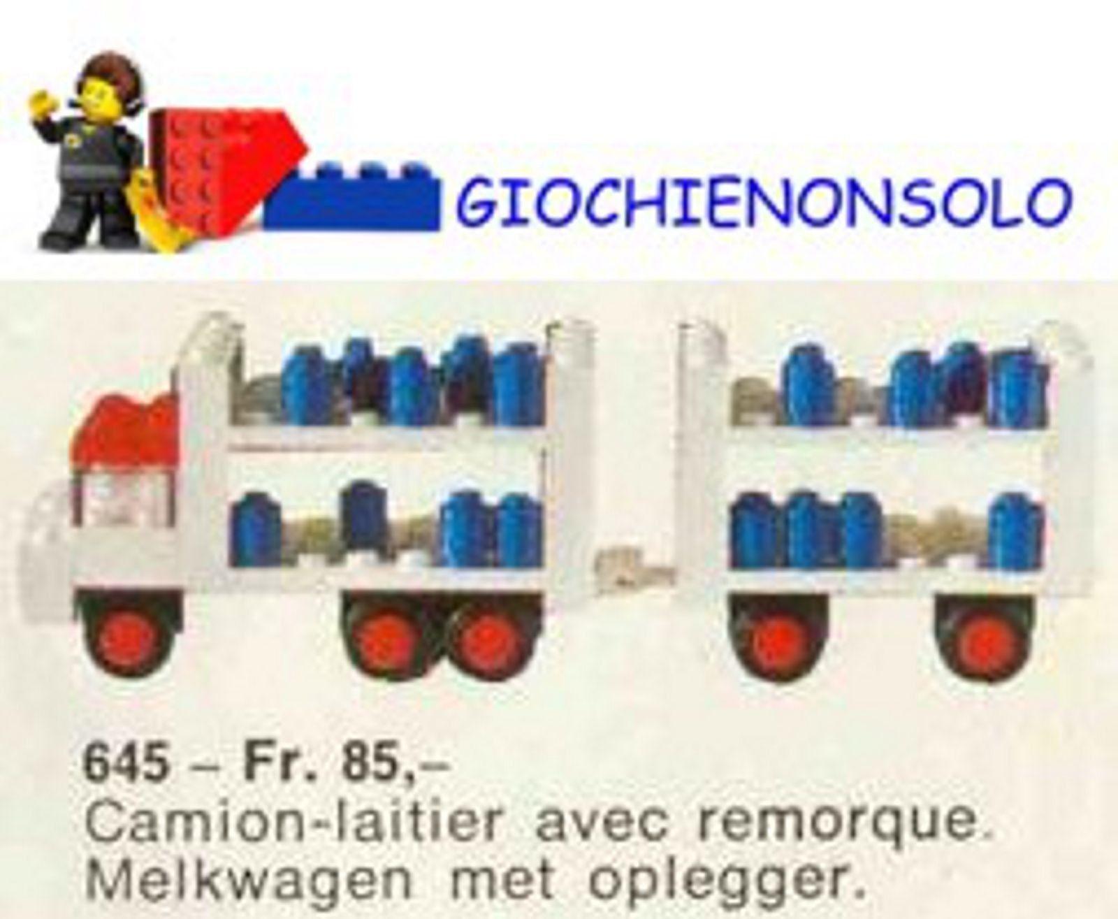 LEGO LEGOLAND 645 - MILK FLOAT & TRAILER
