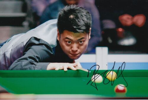 LIANG WENBO HAND SIGNED 12X8 SNOOKER PHOTO PROOF 10.