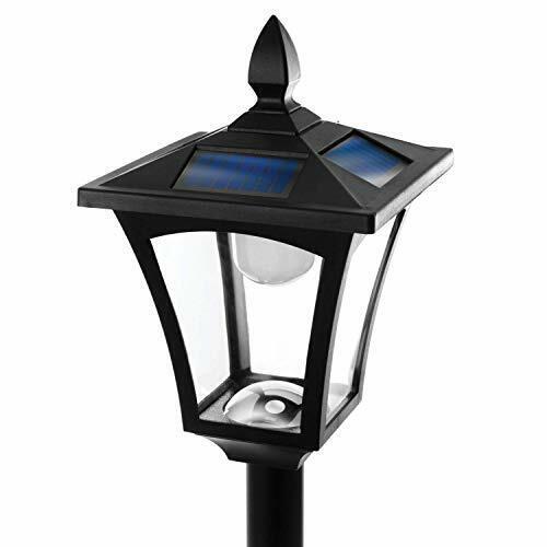"Home Zone Solar Lamp Post Light - 65"" Tall Decorative Outdoor Solar Garden Lamp 3"