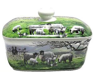 Image Is Loading Farmyard Country Sheep Design Ceramic Er Dish Kitchen