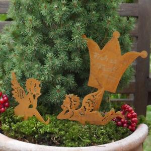 Krone Engel Set Zum Stecken Beschriften Beetstecken Garten Fee