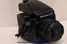 Mamiya M645 PRO Medium Format Film Camera c/w 80mm N + AE Prism + 120 back 645