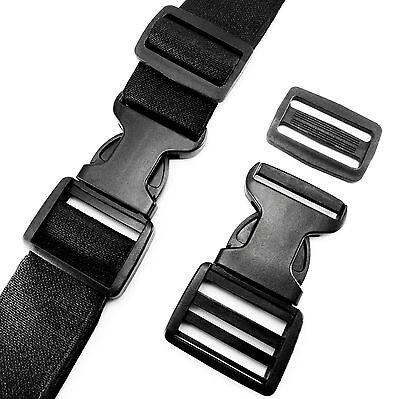 Delrin Plastic Side Release Buckle Clips Sliders For Webbing 35 mm