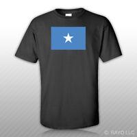Somali Flag T-shirt Tee Shirt Free Sticker Somalia Som So