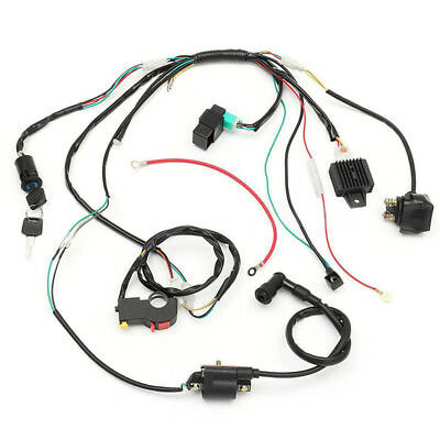 wiring harness kit for atv cdi wire switch stator assembly electric wiring harness kit 50cc  electric wiring harness kit 50cc
