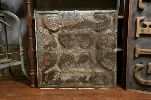 Antique Tin Ceiling Tile 24X24 Wall Collage White Vintage Bedroom Kitchen Old