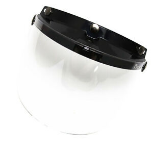 Protector-Face-Flip-Clear-Lens-Visor-for-Open-Half-Face-Motorcycle-Helmet
