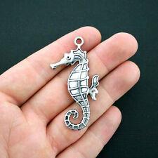 SC4695 8 Seahorse Charms Antique Silver Tone