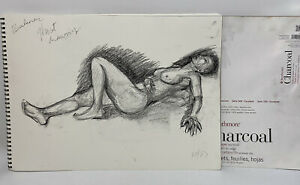 Lot of Academic Figure Drawings Sessions Portfolio Richard Gaffield Charcoal Pad