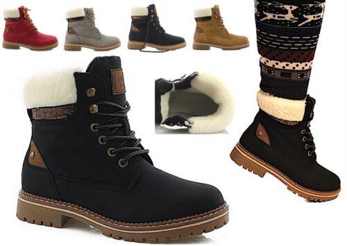 Chaussures pour Femmes D/'Hiver Bottes Bottines Extérieur à Doublure Chaude Neuf