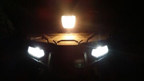 Fits Suzuki Eiger 400 ATV Super White LED Headlights 80W Bulbs 02 03 04 05 06