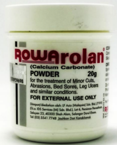 Details About 2 Bottle Rowarolan Powder For Minor Cuts Abrasions Bed Sores Leg Ulcer