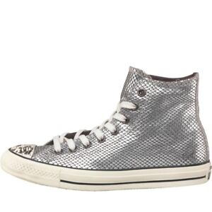 Silver Trainers 5 Ct Us All 36 3 Eu Snakeskin Star Bnib Uk Hi 5 Converse 5 dYzwqXq