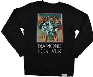 Diamond Supply Company DIAMOND FOREVER Black Angels Crewneck Men's Sweatshirt