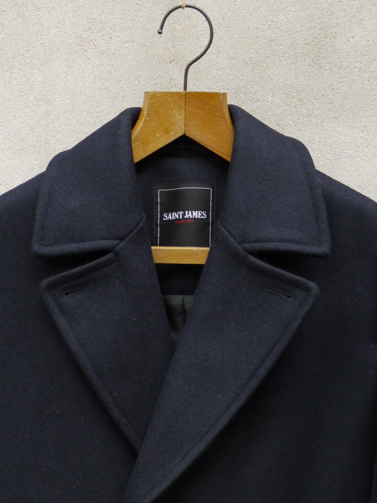 Pavois Pea Coat-Made by in France by Coat-Made SAINT JAMES - 28oz LANA REEFER Peacoat df3e21