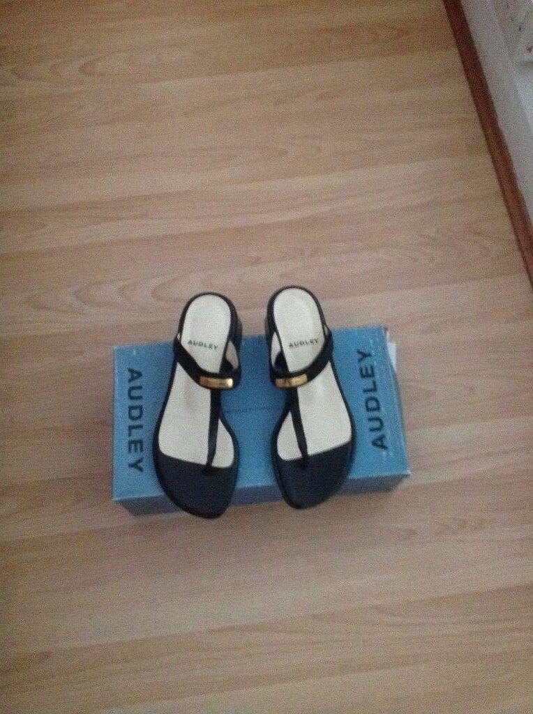 AUDLEY in sandalo in AUDLEY pelle nera Taglia 4 ba82c8