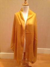 """CASHMERE Fine Wool GOLD Long Scarf Shawl Wrap 82x28"""" NWT"""