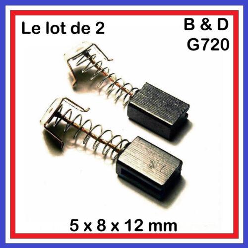 Lot de 2 Charbons 5 x 8 x 12 mm Black /& Decker G720