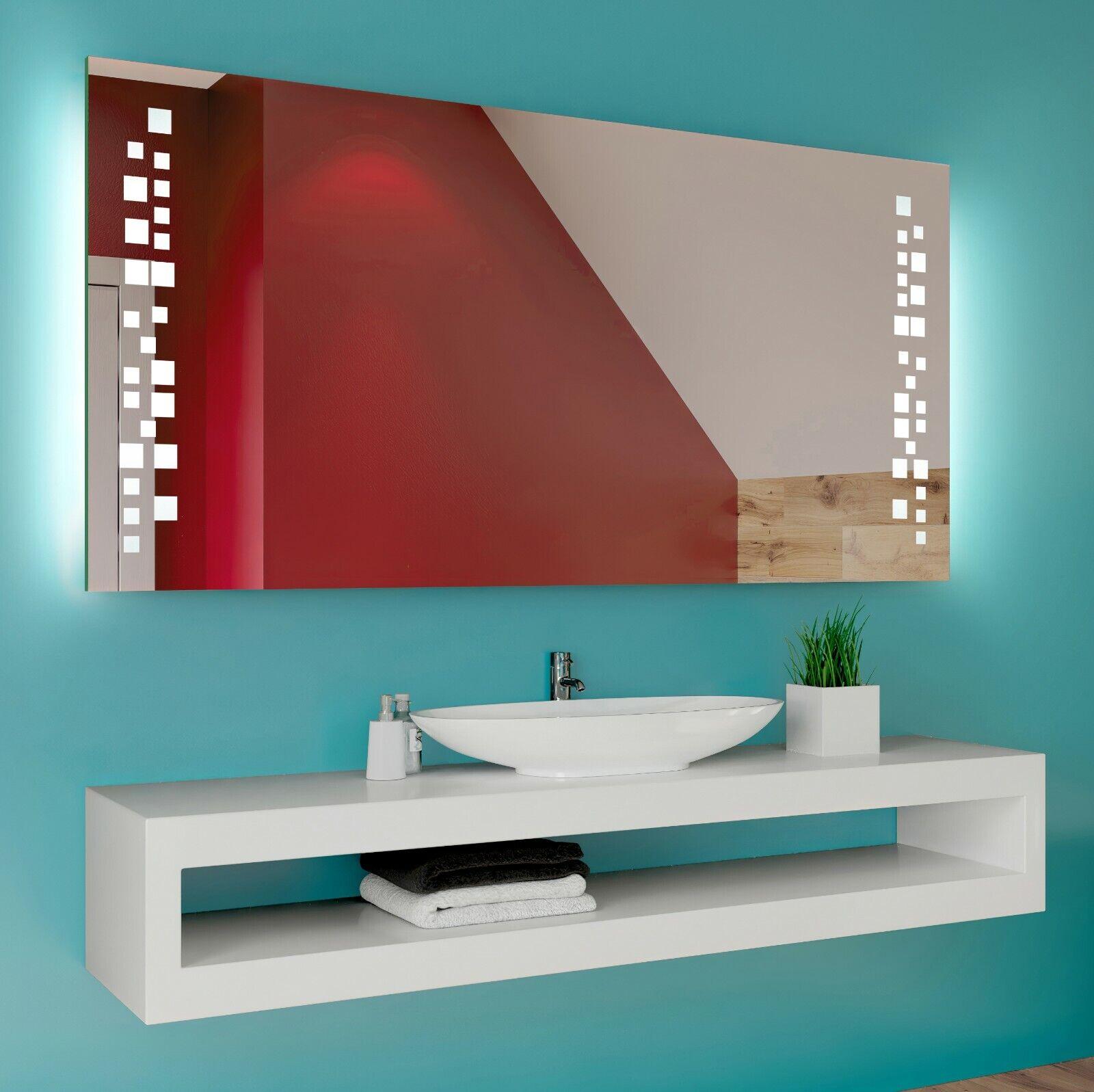 Badspiegel mit LED Beleuchtung Wandspiegel Spiegel Badezimmerspiegel nach Maß 38