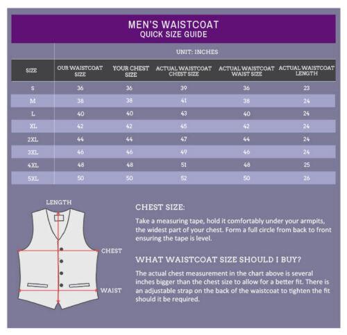 DQT Woven Plain Solid Check Cadbury Purple Formal Mens Wedding Waistcoat S-5XL