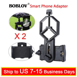 2X-Cell-Phone-Holder-Adapter-Binocular-Monocular-Spotting-Scope-Telescope-Mount