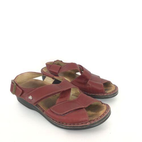 Finn Comfort Womens Size EU 38 US 7-7.5 Red Leathe