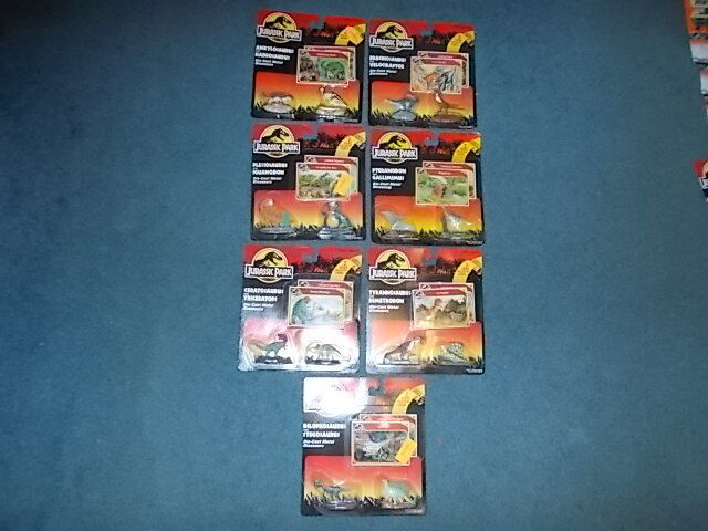 10 Jurassic Park Die-Cast Metal Dinosaurs 1993 Kenner 3 are Missed Labeled