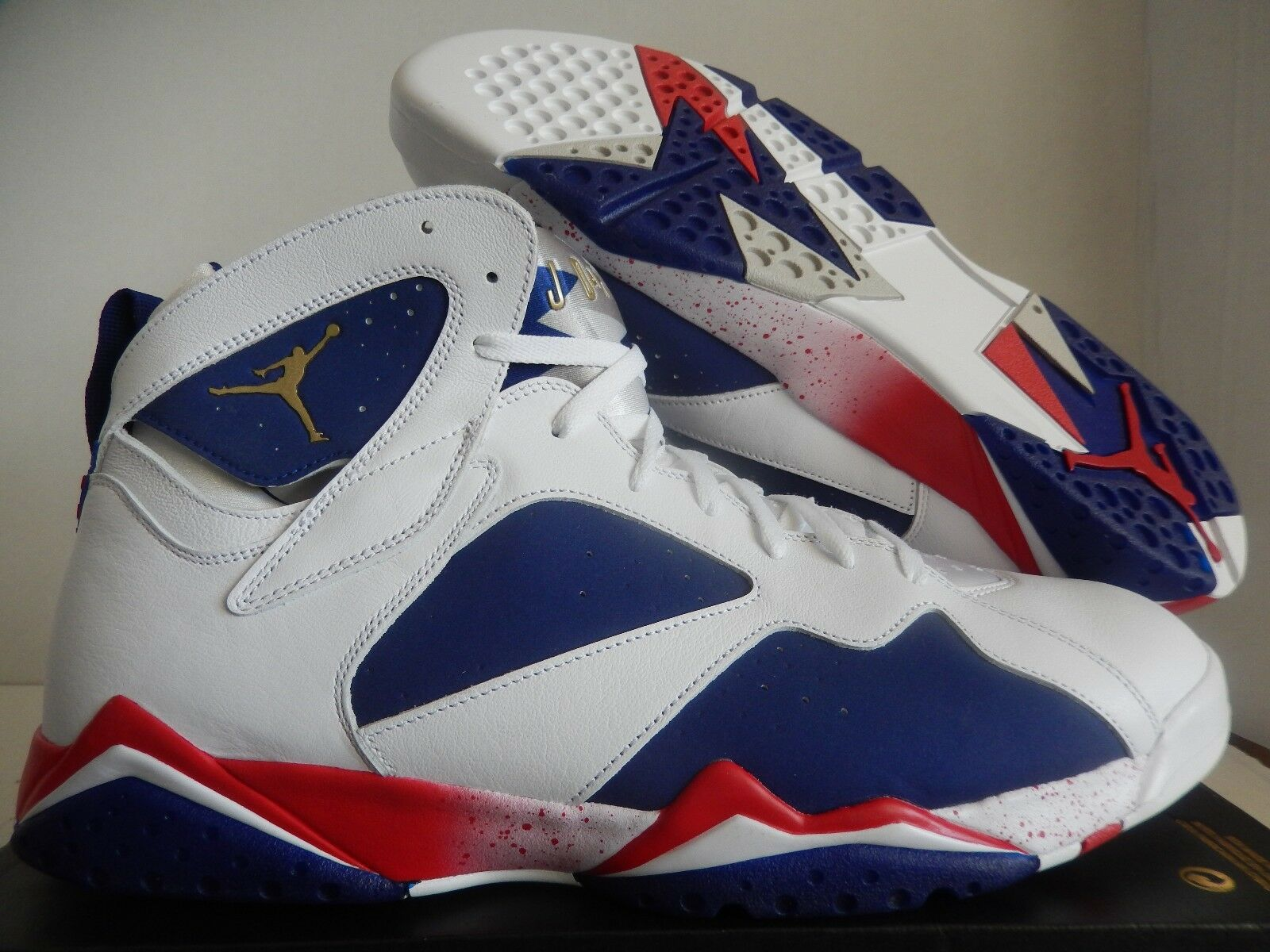 NIKE AIR JORDAN 7 RETRO OLYMPIC TINKER ALTERNATE WHITE-GOLD Price reduction Seasonal price cuts, discount benefits