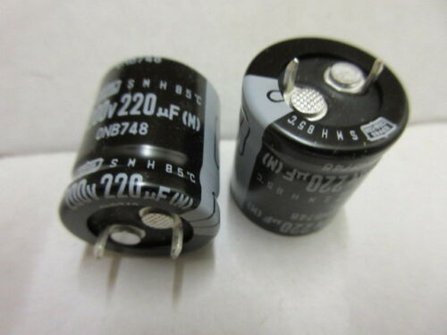 220UF 200V Snap en Condensador Nippon Chemicon SMH 200 VSSN 220 ** ** X 2