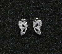 Ohrringe Ohrstecker Schmetterling 925 Sterling Silber Damen Trendy Elegant NEU
