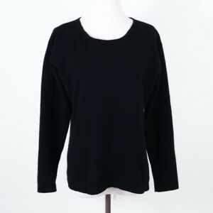 Maria Langærmet Di M Sweater Størrelse Ripabianca Sort Neck Pullover Cashmere Crew qOwAxpqr