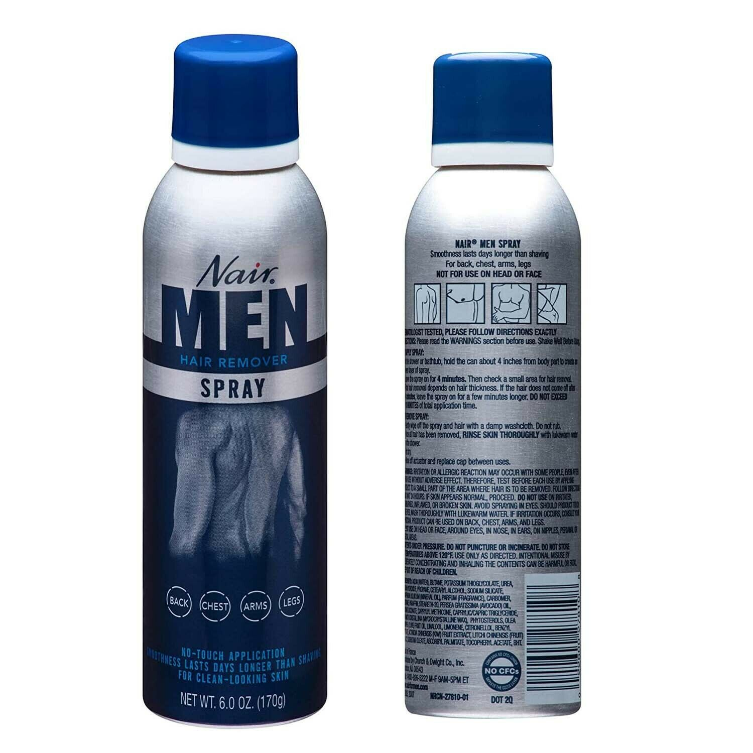 Nair Men S Hair Removal Spray 6 0 Oz For Sale Online