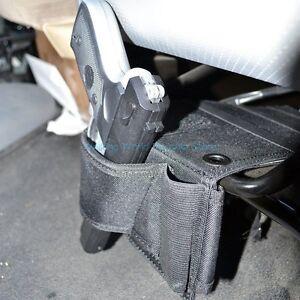wall mount concealed gun holder under car seat pistol holster