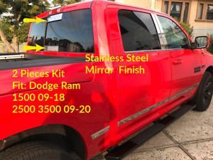 for DODGE RAM 09-18  QUAD CAB CHROME BODY SIDE MOLDING STAINLESS STEEL TRIM