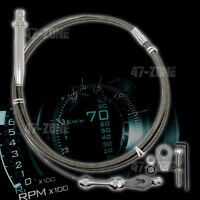 Stainless Steel Braided Chevy Gm Th-350 Tuned Port Transmission Kickdown Cable