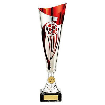 OfficiëLe Website Champions Football Red & Silver Laser Cup Trophy Award Free Engraving Tr19610 Dingen Geschikt Maken Voor De Mensen