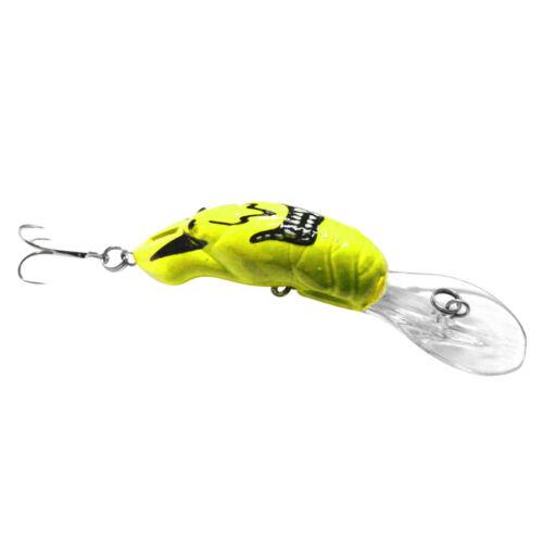 3D Eyes Hard Plastic Crankbaits 8.5cm//8.2g Minnow Fishing Lure Hook Baits