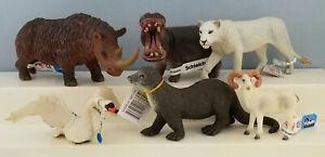 Schleich-AAA-Mojo-Fun-Bullyland-Safari-Model-Wild-Animal-Toy-Figurine-Group-of-6