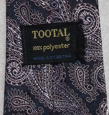 Brioso Vintage Tootal Cravatta Da Uomo Cravatta Retro Moda Arabescato Viola-mostra Il Titolo Originale