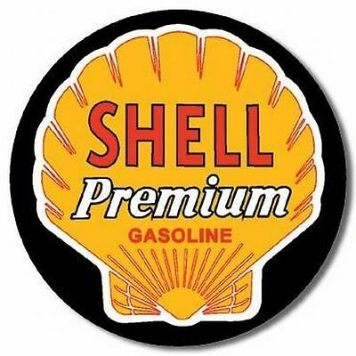 "Vintage SHELL Premium Gasoline 4"" Vinyl Decal Sticker"
