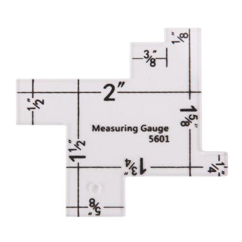 "1x 2/"" Plastic sewing measuring gauge quilting measurement for patchwork ruler$FS"