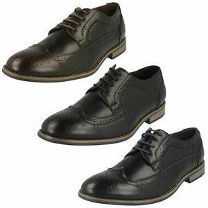 'mens Maverick' Lace Up Brogue Shoes A2r126 Business-schuhe